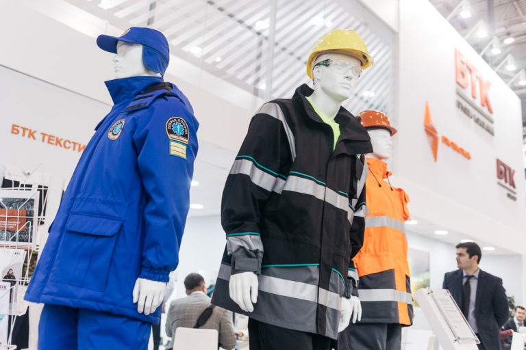 BTK group presented a new hi-tech collection of professional clothes of TRUD