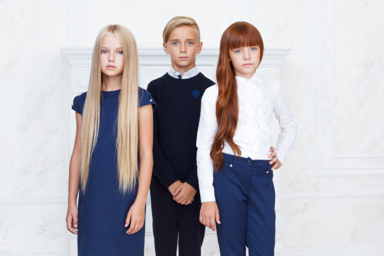 BTK group presented a new collection of a school uniform at the CJF-Children's fashion exhibition